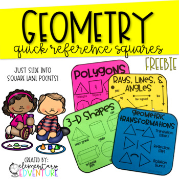 Geometry Reference Squares {FREEBIE}