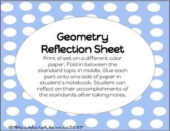 Geometry Reflection Sheet 7