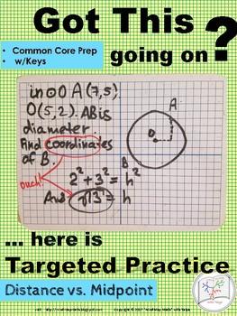 Geometry Regents Prep:Distance vs. Midpoint ~Targeted Practice