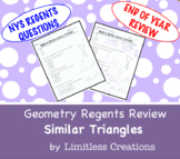 Geometry Regents Review: Similar Triangles