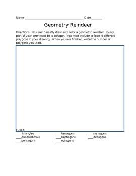 Geometry Reindeer using Polygons