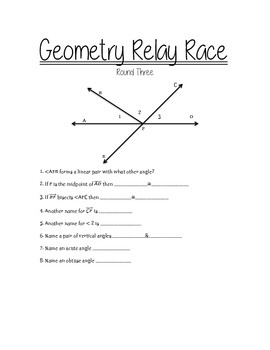 Geometry Relay Race
