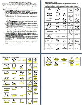 Geometry Relay Race Game - Vocabulary Review - Fall 2014 with Answer Key