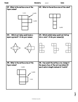 Geometry Resources: Homework/Review: Common Core Aligned: 6.G