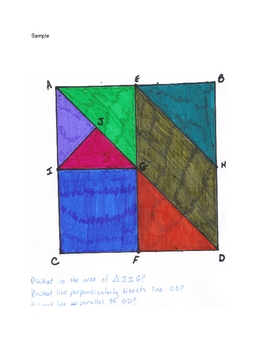 Geometry Review: 8 Math Centers for Grades 6-8