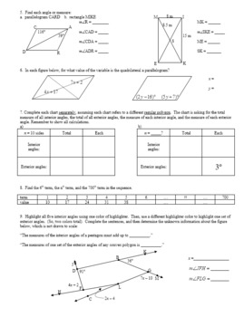 Geometry Review: Angles and Angle Relationships Fall 2012 (Editable)