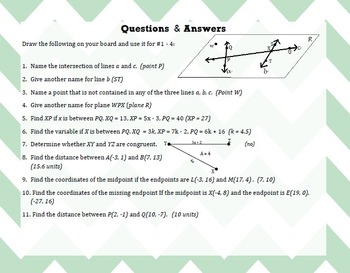 Geometry Review - BINGO GAME