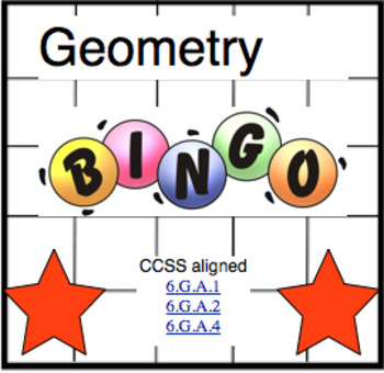 Geometry Review Bingo Game