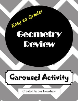 Geometry Review CAROUSEL ACTIVITY