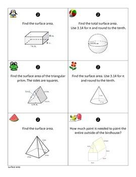 Geometry Review - CCSS 7.G.B.6