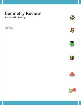 Geometry Review - CCSS 7.G.B.6