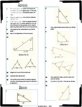 Geometry Review Crossword Puzzle