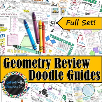Geometry Review Doodle Guides-FULL SET!
