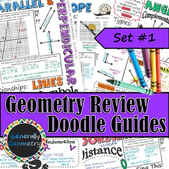 Geometry Review Doodle Notes, Set #1; Distance, Midpoint, Slope, Logic