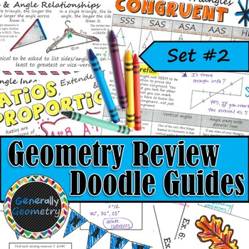 Geometry Review Doodle Notes, Set #2; Triangles, Ratios, Proportions