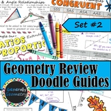 Geometry Review Doodle Notes, Set #2; Triangles, Ratios, P