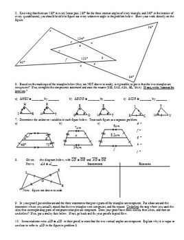 Geometry Review Exercises (Exterior Angles) Fall 2013 (Editable)