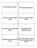 Geometry Review Game Question Cards