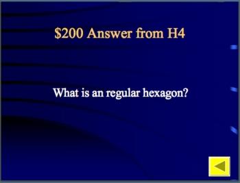 Geometry Review Jeopardy 2