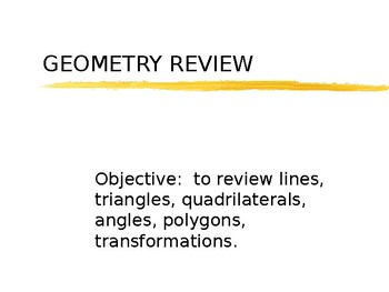 Geometry Review PowerPoint