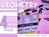 Geometry Review Self Checking Task Cards