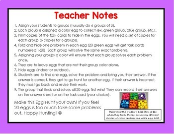 Geometry Review Spring Egg Hunt Activity
