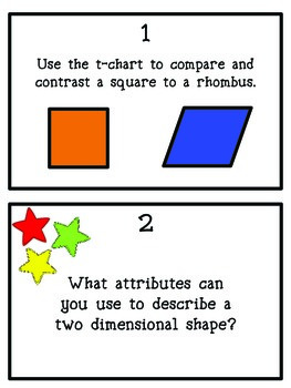 Geometry Review: Task Cards