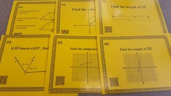 Geometry Review Task Cards: Geometry Basics, Congruence, & Similarity