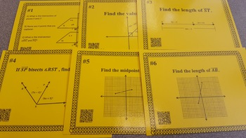 Geometry Review Task Cards: Geometry Basics, Congruence, & Similarity