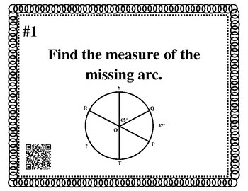 Geometry Review Task Cards: Circles