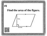 Geometry Review Task Cards: Area & Volume, Probability