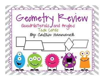 Geometry Review Task Cards - Quadrilaterals and Angles