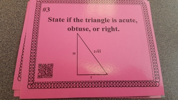 Geometry Review Task Cards: Right Triangles and Quadrilaterals