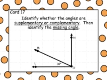 Geometry Review Task Cards/PowerPoint
