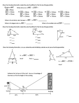 Geometry Review - Triangle Similarity