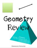 Geometry Review VA SOL 3.14, 3.15, 3.16 & Common Core Aligned