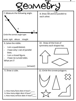 Geometry Review WS