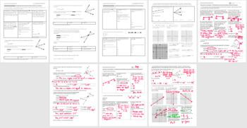Geometry Review Worksheet Fall 2013 (Editable)