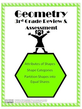 Geometry Review and Assessement - 3rd Grade