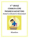 SBAC PREP: 4th Grade Progress Monitors Geometry and Geometric Measurement