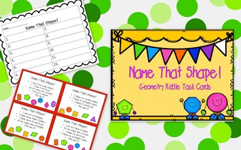 Geometry Riddle Task Cards