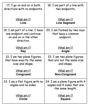 Geometry Riddles - Task Cards - Scoot - 3rd Grade Virginia SOL