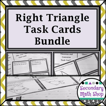 Right Triangle Concepts Task Card BUNDLE!!!