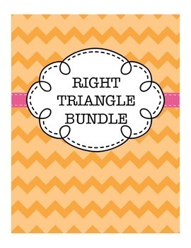 Geometry Right Triangle Bundle (includes Pythagorean Theorem and Trig Practice)