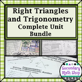 Right Triangles - Trignometry - Unit 7:  Complete Unit Bundle