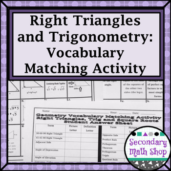 Right Triangles - Right Triangles Trig. Square Roots Vocab