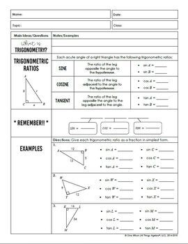 Right Triangles and Trigonometry (Geometry Curriculum ...