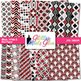 Black, White, Red Paper {Scrapbook Backgrounds for Task Ca