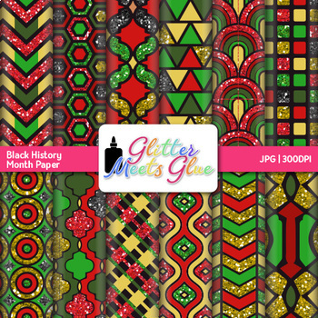 Black History Month Paper {Scrapbook Backgrounds for Worksheets and Resources}