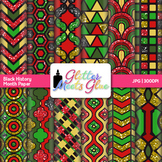 Black History Month Scrapbook Paper: Kwanzaa Graphics {Glitter Meets Glue}